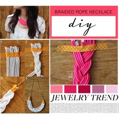 #DIY braided rope necklace by prettyorchid22 on Polyvore!