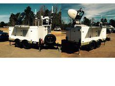 pCom VSAT Satellite Internet Cellular Phone Communications Trailer for mobile emergency response