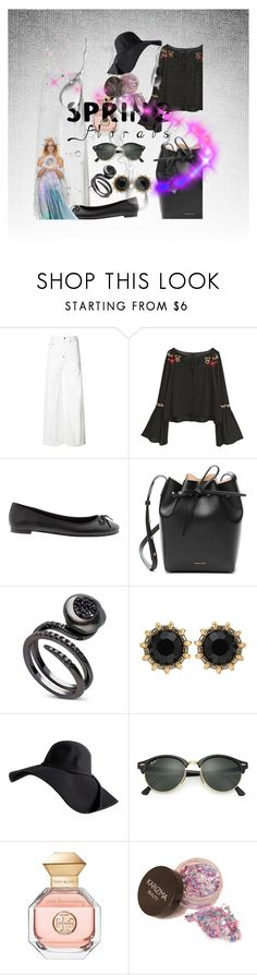 """Untitled #4647"" by princhelle-mack ❤ liked on Polyvore featuring Calvin Klein, Banana Republic, Mansur Gavriel, Gucci, Ray-Ban and Tory Burch"
