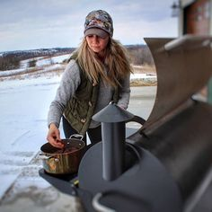 Winter storm Stella didn't keep @shanyn.hart from Traegering. Spring is right around the corner — what are you grilling?