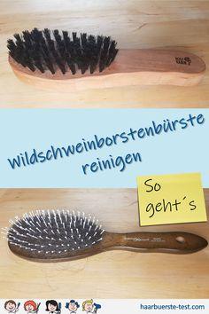 Wildschweinborstenbürsten reinigen: Wildschweinborstenbürsten sind die perfekten Haarpflegebürsten. Mit der Zeit sammeln sich jedoch jede Menge Haare, Stylingreste & Staub, die du sicher nicht im frisch gewaschenen Haar verteilen möchtest. Wie du Naturhaarbürsten am besten reinigst ... Cleaning Hair Brushes, Best Hair Brush, Fresh, Tips