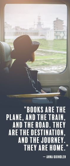 Love this inspirational book quote about reading. Great for teens and for adults.