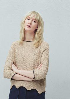 Jersey algodón lino - Cárdigans y jerséis de Mujer | MANGO España