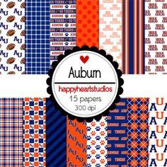 Digital Scrapbook AuburnINSTANT DOWNLOAD by azredhead on Etsy, $1.50