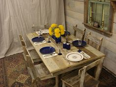 Driftwood Trestle Table 64 x 36 x 29H by DriftwoodTreasures, $959.00