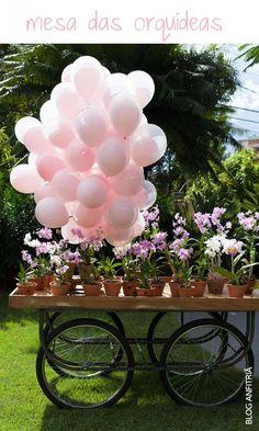 festa infantil com decoração de jardim para meninas | Anfitriã como receber em casa, receber, decoração, festas, decoração de sala, mesas decoradas, enxoval, nosso filhos