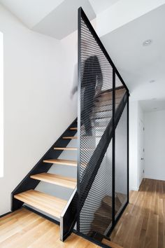 Résidences Coleraine - _naturehumaine - architecture & design - The project includes two townhouses, each comprising 3 bedrooms, a lounge-dining-kitchen area, 2 ba - Architecture Design, Stairs Architecture, Retail Architecture, Minimalist Architecture, Stair Handrail, Railings, Banisters, Steel Stairs, Modern Stairs