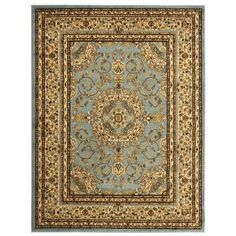 Ottomanson Traditional Oriental Medallion Light Blue 7 ft. 10 in. x 9 ft. 10 in. Area Rug-RYL1076-8X10 - The Home Depot
