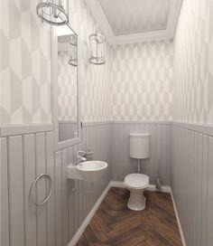 łazienka w stylu shabby chic - ArchOmega Mirosław Bartnik - e-aranżacje.pl