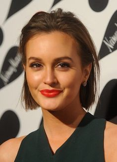 Leighton Meester's slicked back hairstyle makes for sophisticated prom hair!