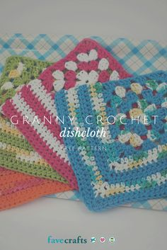 Granny crochet dishcloth - I used to make sets of these as gifts but I had lost the pattern. Pinning! ༺✿ƬⱤღ✿༻