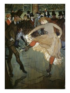 Dance at the Moulin Rouge - Henri de Toulouse-Lautrec - print from allposters.com: click here