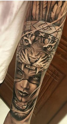 Tattoo Leg Male Sleeve Ideen – – Tattoo L… – tattoos for women half sleeve Leg Sleeve Tattoo, Full Sleeve Tattoos, Sleeve Tattoos For Women, Tattoo Sleeve Designs, Aztec Tattoo Designs, Indian Women Tattoo, Indian Girl Tattoos, Indian Tattoo Design, Forearm Tattoo Design