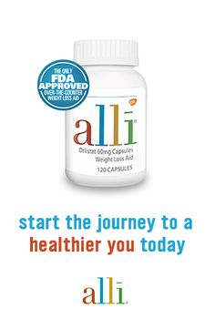 Embarking on a weight-loss journey can be an intimidating feat, but alli® is here to help. Reach your goals faster with the help of its fat-blocking formula and collection of over 50 deliciously healthy recipes. alli® (orlistat 60 mg) is for weight-loss in overweight adults, 18 years and older, when used along with a reduced-calorie and low-fat diet. Follow label directions. Trademarks are owned or licensed to the GSK group of companies.