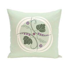 E by Design Plant Life Decorative Pillow Green / Purple Polyester - PFN187GR16PU5-20
