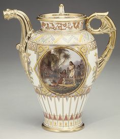 """Sèvres Manufactory (French, 1740–present). Coffeepot (Cafetière """"campanienne"""") (part of a service), 1836. The Metropolitan Museum of Art, New York. Purchase, The Charles E. Sampson Memorial Fund and Gift of Irwin Untermyer, by exchange, 1986 (1986.281.1a, b)"""