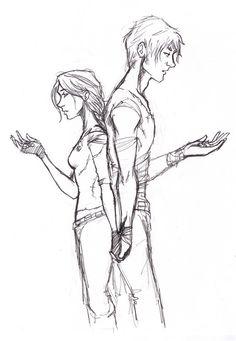 (I love fan art) Katniss & Peeta - The Hunger Games