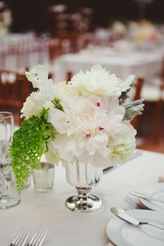 #peony, #centerpiece  Photography: Closer to Love Photography - closertolovephotography.com  Read More: http://www.stylemepretty.com/2013/08/19/san-juan-capistrano-wedding-from-closer-to-love-photography/