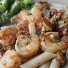 Spicy Shrimp and Tomato Scampi Shrimp And Scallop Recipes, Shrimp Recipes, Fish Recipes, Pasta Recipes, Cooking Recipes, Recipies, Shrimp Dishes, Fish Dishes, Pasta Dishes