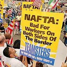 NAFTA at 20: Lori Wallach on U.S. Job Losses, Record Income Inequality, Mass Displacement in Mexico: Hundreds of thousands of U.S. jobs have vanished as companies sought lower-wage workers in Mexico. Meanwhile, NAFTA has generated more poverty in Mexico, forcing millions of citizens to migrate to the United States in search of work.