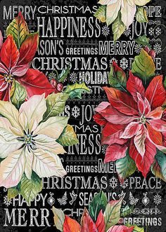 Vintage Christmas Images, Christmas Pictures, Chalkboard Typography, Decoupage, Christmas Chalkboard, Merry Christmas Greetings, Flower Artwork, Wall Art For Sale, Art Pages