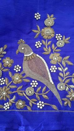 Best Blouse Designs, Maggam Works, Work Blouse, Hand Embroidery, Diy Projects, Kids Rugs, Bride, Parrot, Stitching