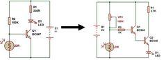 dark sensor using darlington transistor