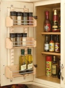 Make use of cabinet doors, not counter space.