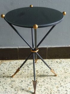 Superbe Rare Table Gueridon Andre Arbus FER Forge Fleches ART Deco 1947 | eBay