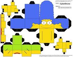 les Simpsons au grand complet à partir de ce post !... (Cubee - Marge Simpson par ~ CyberDrone on deviantART)