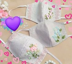 Ribbon Embroidery, Embroidery Stitches, Embroidery Patterns, Machine Embroidery, Sewing Hacks, Sewing Tutorials, Sewing Crafts, Sewing Projects, Easy Face Masks