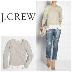 Selling this NWT J. Crew grey ruffle hem sweatshirt XL in my Poshmark closet! My username is: jdenny09. #shopmycloset #poshmark #fashion #shopping #style #forsale #J. Crew #Sweaters