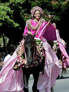 6c89d9b0 Joey Ann Kuupuni Maeda, the P'au Princess representing Maui in the 2006  Aloha