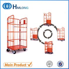 Storage Trolley, Storage Rack, Warehouse Pallet Racking, Cargo Transport, Warehouse Shelving, Container Size, Roll Cage, Steel Mesh, Wire Mesh