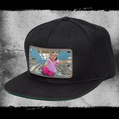 31cddd2c5f5e4a Custom snapback any photo printed directly on leather patch. Hat Stands,  Custom Hats,. citylocs