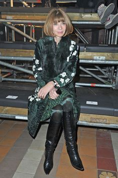 Anna Wintour attends the Lanvin Fall/Winter 2013 Ready-to-Wear show as part of Paris Fashion Week