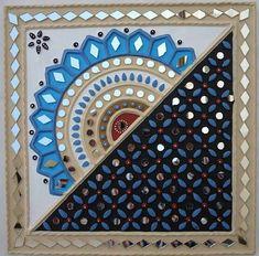 Worli Painting, Acrylic Painting Techniques, Ceramic Painting, Ceramic Art, Clay Wall Art, Canvas Wall Art, Mural Art, Murals, Rajasthani Art