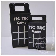 FREE DIY 3D cut files studio PDF tic tac toe game box for tac tics