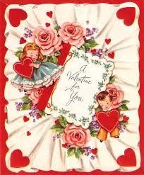 Image result for roses + vintage valentine card