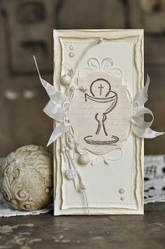 cynkowe poletko: Komunia Św. First Communion Cards, Communion Cakes, Holy Spirit, Good To Know, Special Occasion, Projects To Try, Scrapbooking, Place Card Holders, Invitations