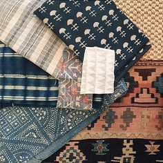 Big Buti Indigo Canvas in a beautiful selection of textiles put together by Amber Lewis of Amber Interiors - Walter G Textures Patterns, Fabric Patterns, Print Patterns, Fabric Photography, Furniture Update, Fabric Combinations, Amber Interiors, Fabric Wallpaper, Fabric Decor