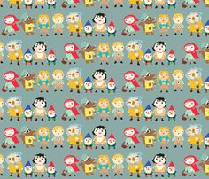 fairy tale friends fabric by heidikenney on Spoonflower - custom fabric