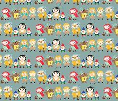 fairy tale friends fabric by heidikenney on Spoonflower - custom fabric