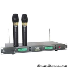 """Pyle 19"""" Rack-mount Rechargeable Handheld Microphone System"""