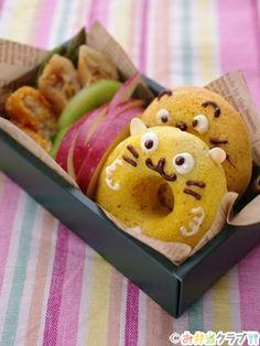 Cat donut of vegetables bento