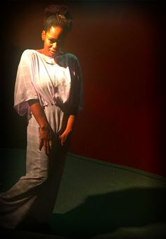 Self-designed chiffon jumpsuit.I am working on a ready to wear line!!