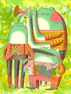 Frog Trio by JooHee Yoon. three eyed frog, Love it.