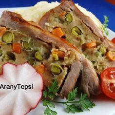 Zöldséges-májas töltött dagadó   Nosalty Tacos, Curry, Mexican, Ethnic Recipes, Food, Curries, Essen, Meals, Yemek