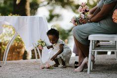 Wedding ceremony outdoor in Residence Cap Brun, Riviera, Toulon www.mariagedanslair.com