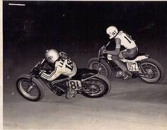 Vintage Flat Track Motorcycle Races.